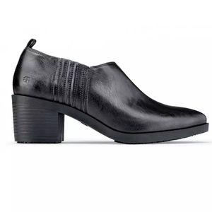 NWOB Shoes for Crews Elva black leather shoe 6.5